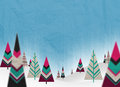 Christmas paper trees Royalty Free Stock Photo