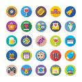 Christmas, Party and Celebrations Vector Icons 5 Royalty Free Stock Photo