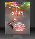 Christmas party flyer poster template Stock Photography