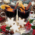Christmas Party Food and Drink Royalty Free Stock Photo