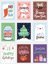 Christmas party invintation vector card design template for noel Xmas holiday celebration clipart New Year Santa Claus Royalty Free Stock Photo