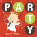 Christmas Party Invite Stock Image