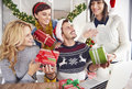 Christmas party at the office Royalty Free Stock Photo