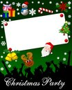 Christmas Party Placard Stock Photography