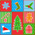 Christmas patchwork background Royalty Free Stock Photography