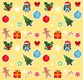 Christmas pattern christmass theme with cute elements Royalty Free Stock Photos