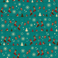 Christmas pattern with folk socks and mittens Royalty Free Stock Photography
