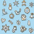 Christmas pattern of gingerbreads vector illustration for your website or packaging design and fabric Stock Photo
