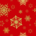 Christmas pattern red seamless winter Royaltyfri Foto