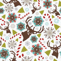 Christmas pattern seamless with elements Royalty Free Stock Photography