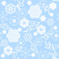 Christmas pattern seamless snowflake ornament holidays image Royalty Free Stock Photography