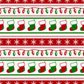 Christmas pattern with socks and garlands. Vector seamless backg