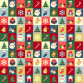Christmas pattern symbols abstract seamless background Royalty Free Stock Photo