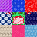 Christmas patterns vector seamless this is file of eps format Stock Image