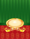 Christmas Pearl with Pinstripe and Damask Royalty Free Stock Photography