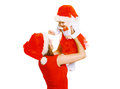Christmas and people concept - mother and baby having fun Royalty Free Stock Photo