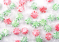 Christmas peppermint candy Stock Photo