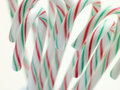 Christmas Peppermint Candy Sticks Stock Photos