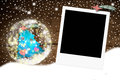 Christmas photo frame for one photo Royalty Free Stock Photo