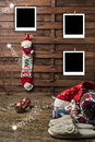 Christmas photo frames postcards Royalty Free Stock Photo