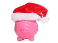 Christmas piggy bank studio cutout Stock Photo