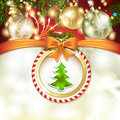 Christmas pine tree Stock Photos
