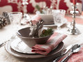 Christmas Place Setting Royalty Free Stock Image