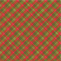 Christmas plaid background, with seamless pattern Stock Photos