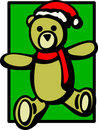 Christmas plush bear vector illustration Stock Photography