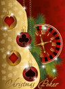 Christmas poker greeting banner Stock Image