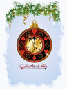 Christmas poker invitation card vector illustration Royalty Free Stock Photo