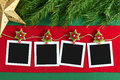 Christmas polaroid photo frames Royalty Free Stock Photo