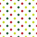 Christmas polka dot background in red vintage with dots vector illustration Royalty Free Stock Photos