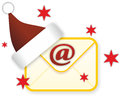 Christmas post illustration of email sign as theme Stock Photo