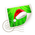Christmas Postage Stamp Royalty Free Stock Photos