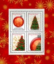 Christmas postage stamps Stock Images