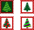 Christmas Postal stamp Stock Photo