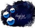Christmas Postcard With Blue B...