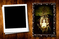 Christmas postcards empty photo frame Royalty Free Stock Photo