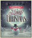Christmas poster vector illustration Royalty Free Stock Photos