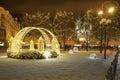 Christmas Prague In Night