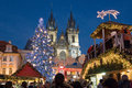 Christmas in prague unesco czech republic jan famous market on old town square Royalty Free Stock Photos
