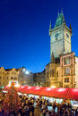 Christmas in prague unesco czech republic jan famous market on old town square Stock Photo