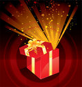 Christmas present box magic Royalty Free Stock Photos