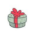 Christmas present, a green box