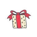 Christmas present, a yellow box