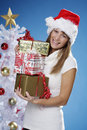 Christmas presents Stock Images