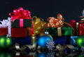 Christmas presents and decorations Stock Photos