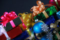 Christmas presents and decorations Stock Photography