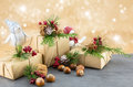 Christmas Presents and ornaments Royalty Free Stock Photo